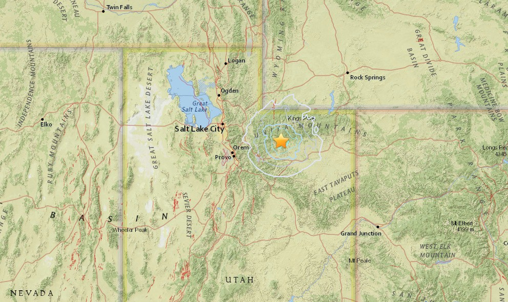 Utah Earthquake Today 2016 Strikes Wyoming