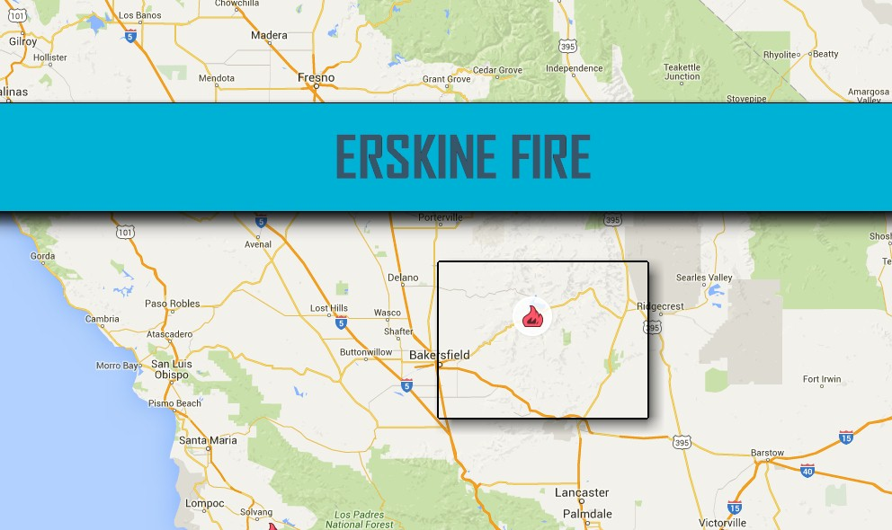 Lake Isabella Fire Map 2016: Erskine Fire Map 2016 Updated