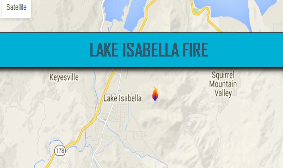 Erskine Fire Lake Isabella Fire Map 2016 Reaches 40% Containment Today