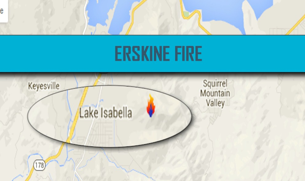 Erskine Fire Map 2016: Lake Isabella Fire Map Updated Sunday