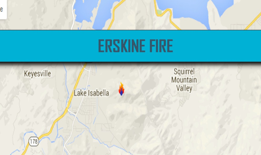 Erskine Fire Map: Lake Isabella Fire Map 2016 New Evacuations