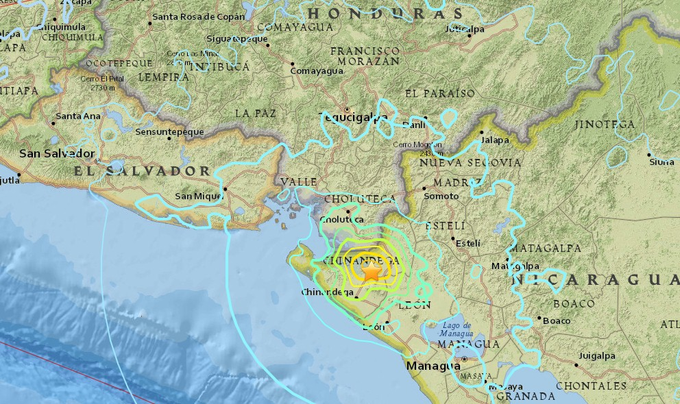 Nicaragua Earthquake 2016: 6.1 Terremoto Strikes On Land