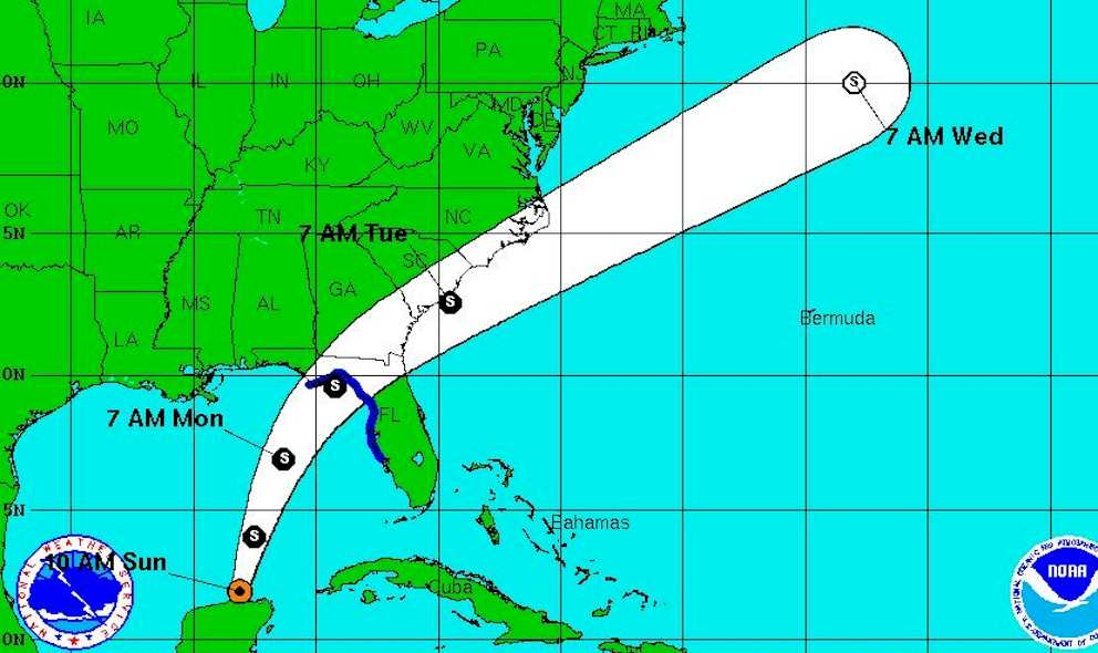 Tropical Storm Colin 2016 Projected Path: National Hurricane Center
