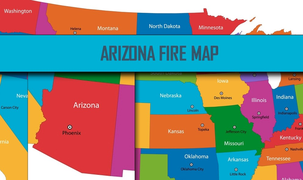 Arizona Fire Map Wildcat Fire Brown Fire Cedar Fire - Cedar fire map