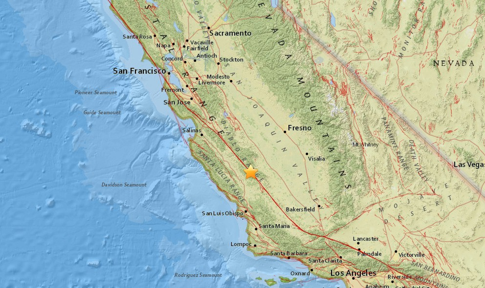 California Earthquake Today 2016: Borrego Springs, Coalinga