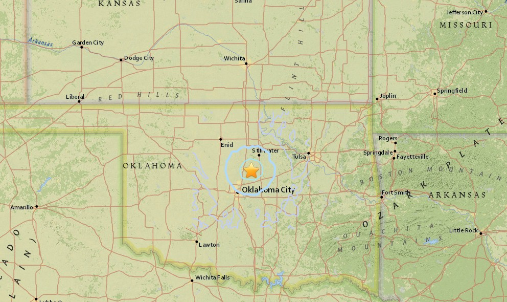 Oklahoma Earthquake Today 2016 Strikes Near Oklahoma City