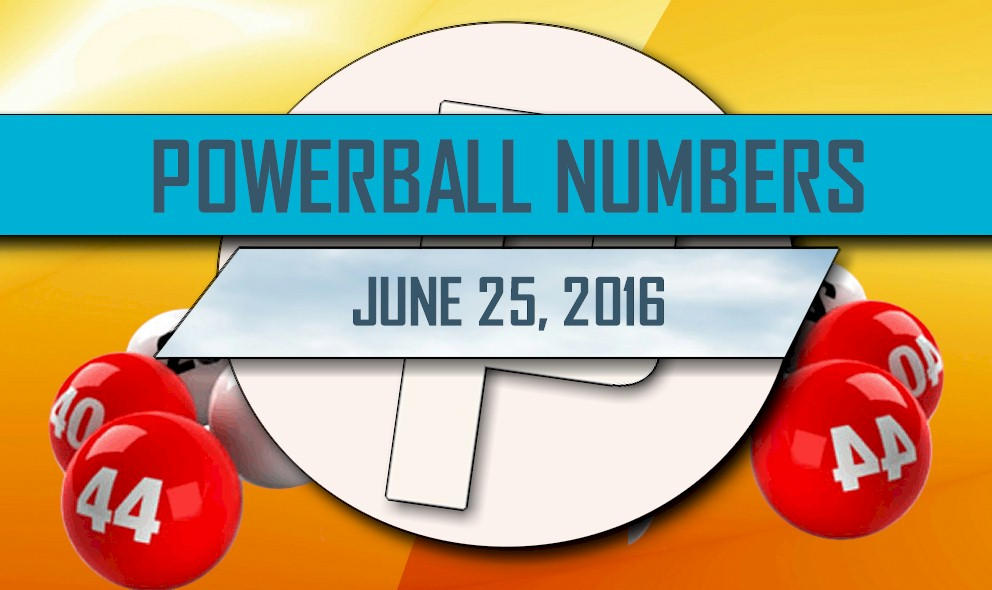 Powerball Winning Numbers June 25 Results Tonight Released 2016