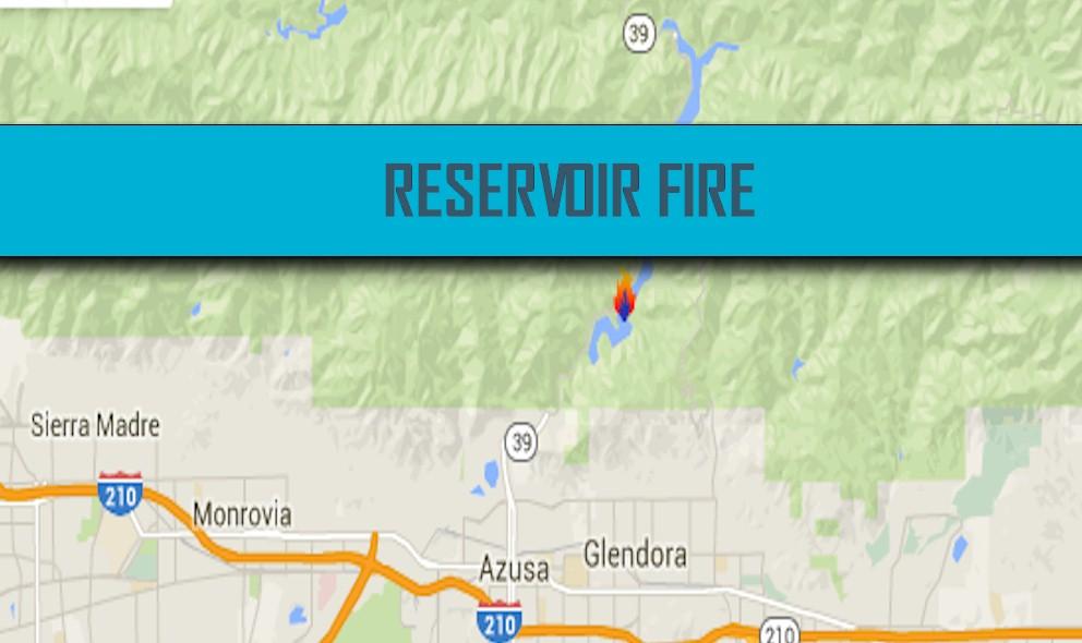Azusa Canyon Fire Map.Reservoir Fire Map 2016 California Fire Near Azusa Glendora Duarte
