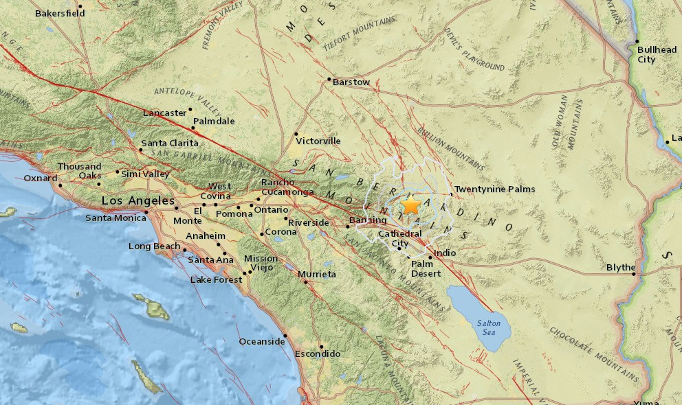 Southern California Earthquake 2016 Today Strikes Palm Springs