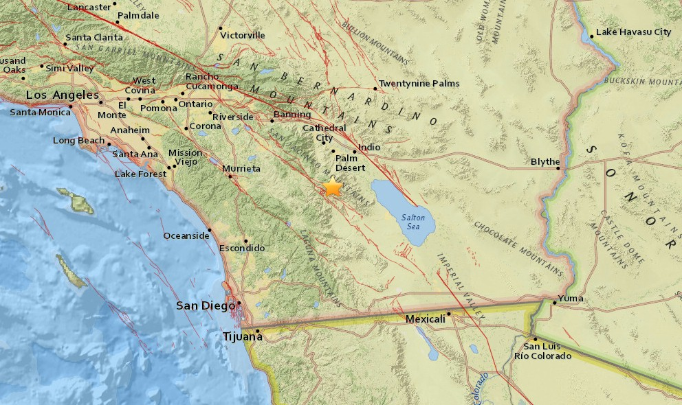 Southern California Earthquake 2016 Today Strikes La Quinta