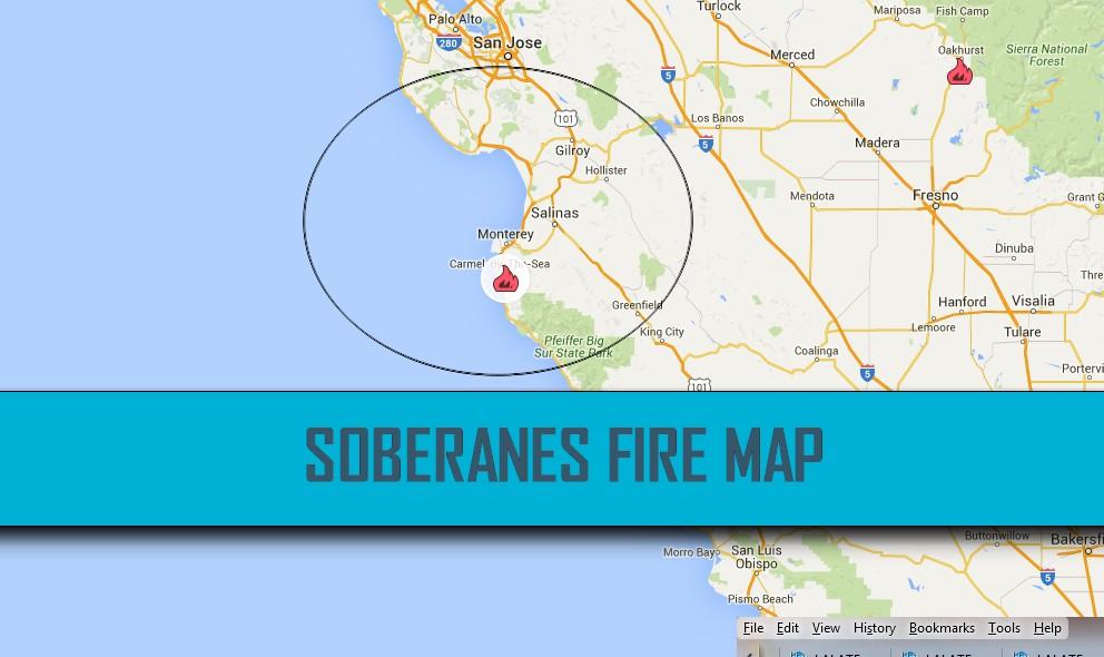 Soberanes Fire Map Prompts Big Sur, Carmel HighlandS Fire Evacuations