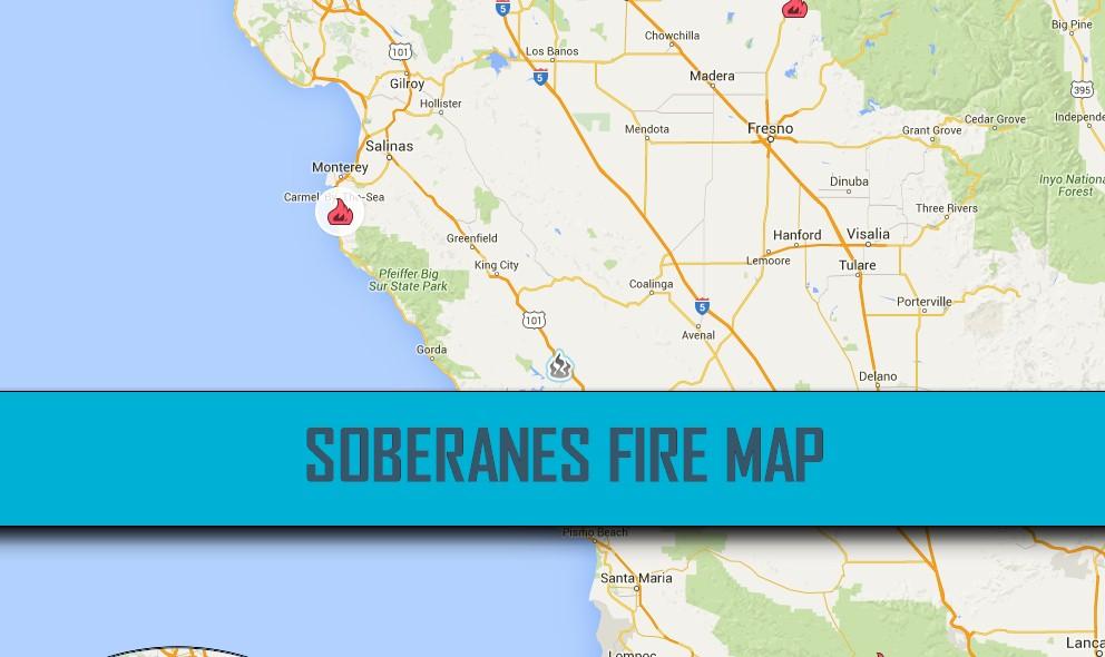Soberanes Fire Map Evacuates Parts of Santa Lucia Preserve Tonight