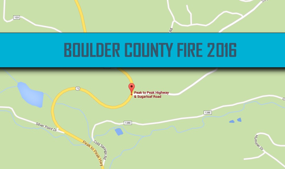 Boulder Fire Map 2016: Nederland Fire Map Today Expands