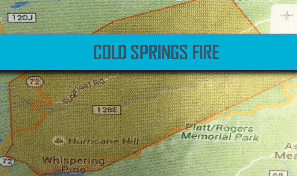 Cold Springs Fire Map 2016: Boulder, Colorado Nederlands Fire Updated