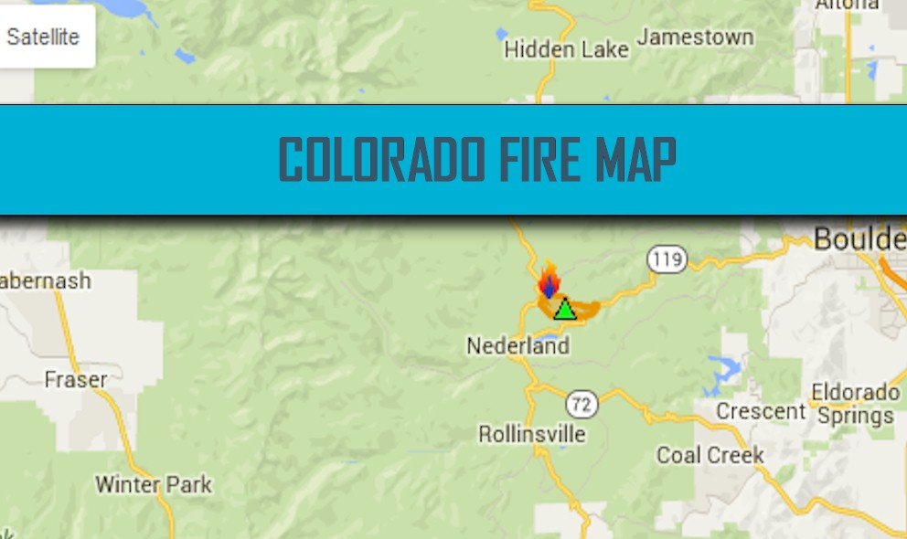 Colorado Fire Map 2016: Cold Springs Fire, Hayden Pass Fire Map
