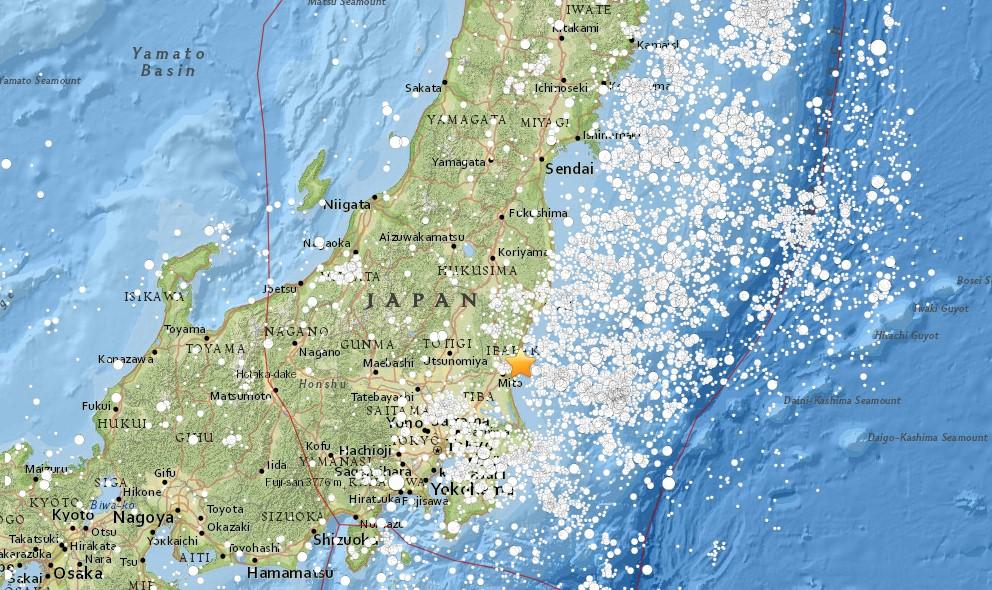 Japan Earthquake Today 2016 Strikes Hitaki