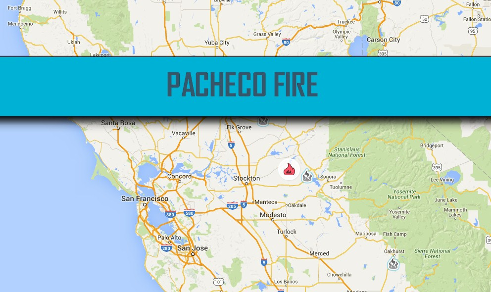 Pacheco Fire Map 2016 California Wildfire Map Valley Springs Updated