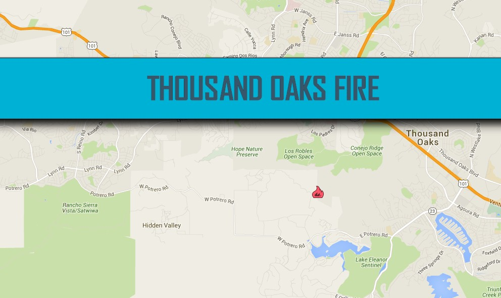 Thousand Oaks Fire Map Today July 13: Sherwood Fire Map Grows