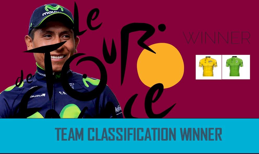 Nairo Quintana's Team Movistar Wins Tour de France 2016 Team Trophy