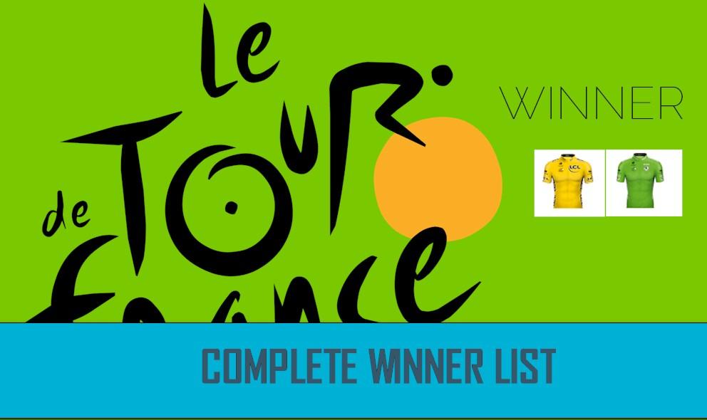 Tour de France Winner Results 2016 Cycling Complete List: GC, KOM