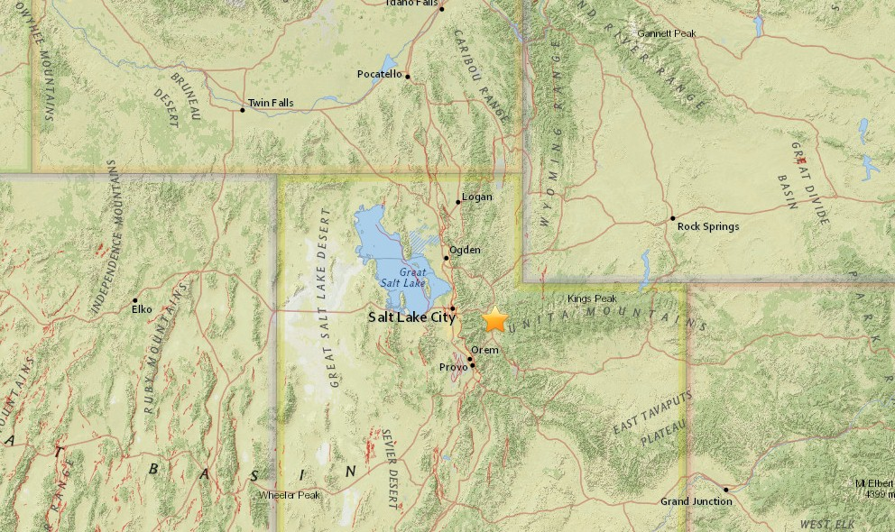 Salt Lake City Earthquake Today 2016 Strikes East of Town