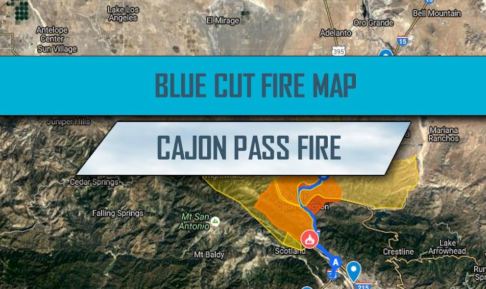 Cajon Pass Fire Map.Blue Cut Fire Map Revised 25k Acres Devore Cajon Pass Fire Gets