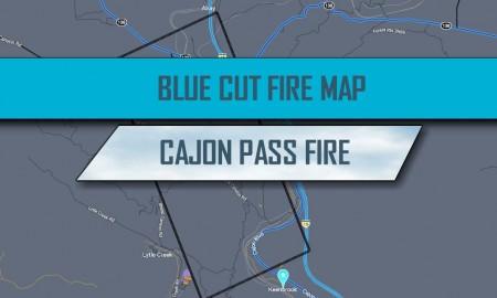 Blue Cut Fire Map Devore: Oak Hills, Cajon Pass Evacuates 83K