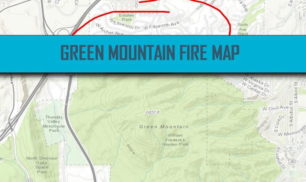 Green Mountain Fire Map 2016: Lakewood, Colorado Fire Grows