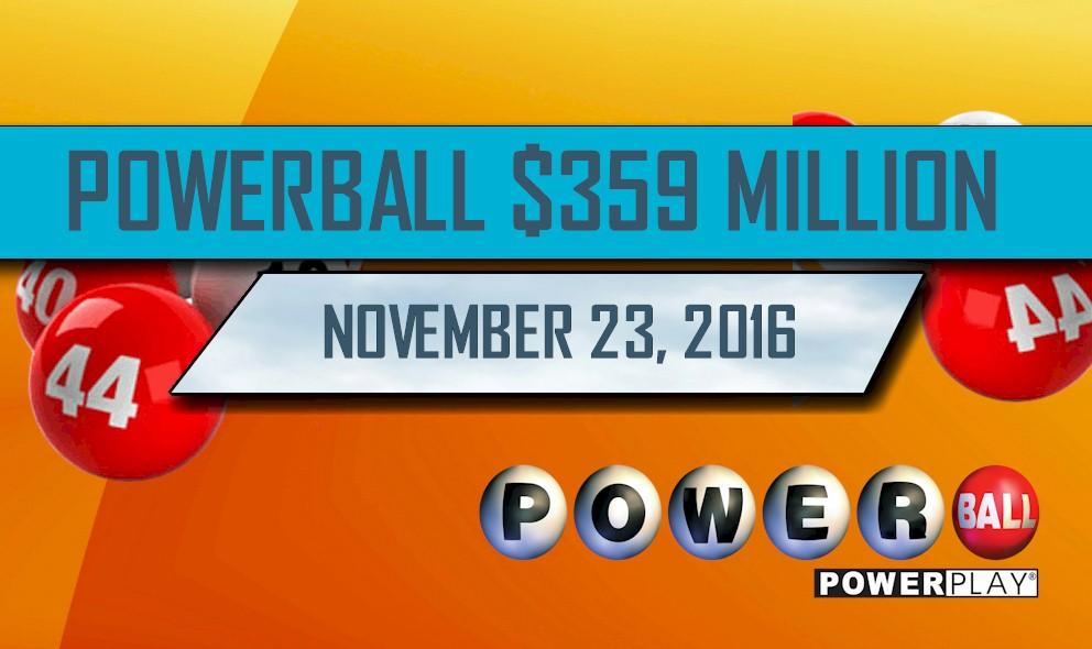 Powerball Winning Numbers November 23 Results Tonight: $359M