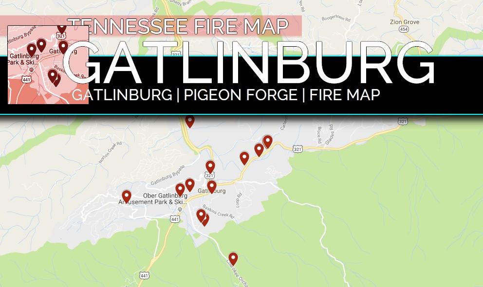 sevier county fire map Gatlinburg Fire Map Sevier County Fire Map Details Damage
