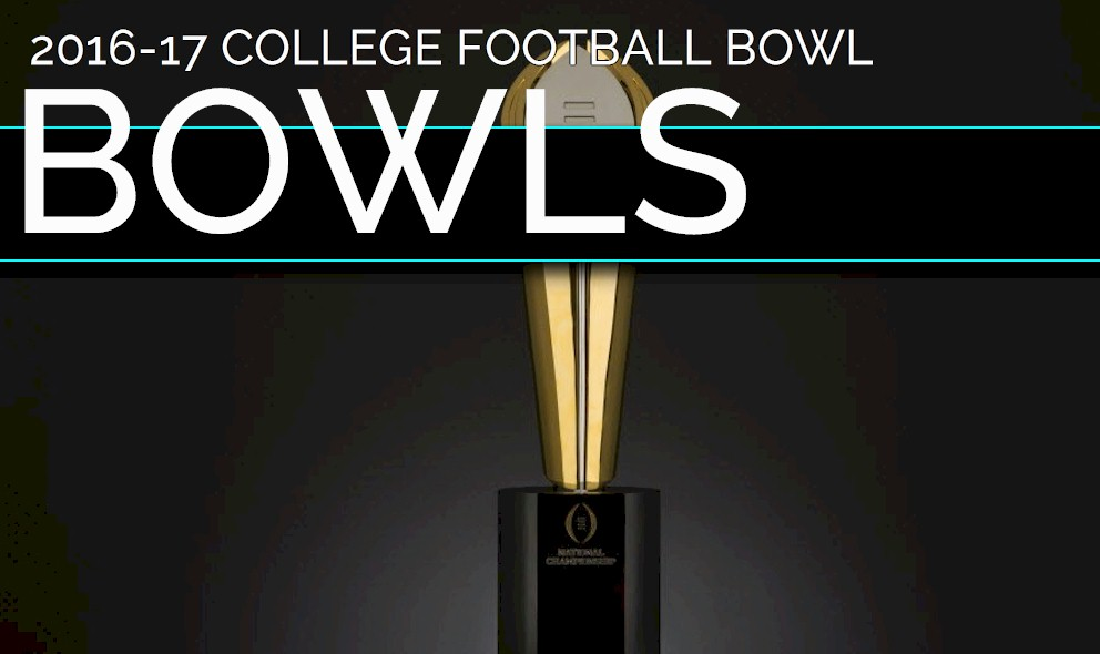 2016 17 college bowl schedule christmas day football games - Christmas Day College Football