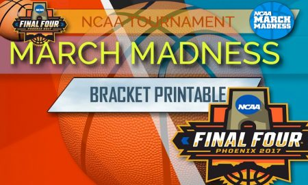 photo regarding March Madness Tv Schedule Printable identify March Insanity Bracket Printable 2017 Routine, Dates, Television set Channel