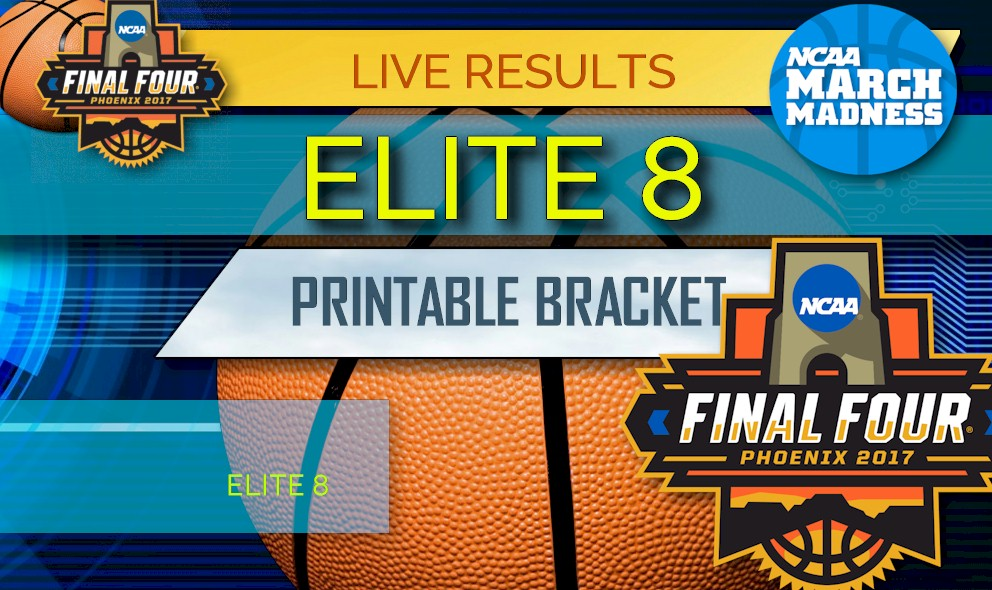 picture regarding Bachelor Bracket Printable named Elite 8 Bracket Printable: NCAA Elite 8 Bracket March Insanity