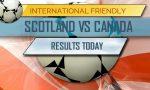 Scotland vs Canada Score 2017: Soccer Friendly Battle