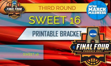Sweet 16 Bracket: 2017 NCAA Basketball Bracket Printable Updated
