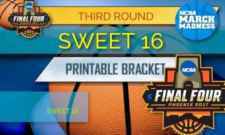 Sweet 16 Bracket Printable: NCAA Sweet 16 Bracket Schedule