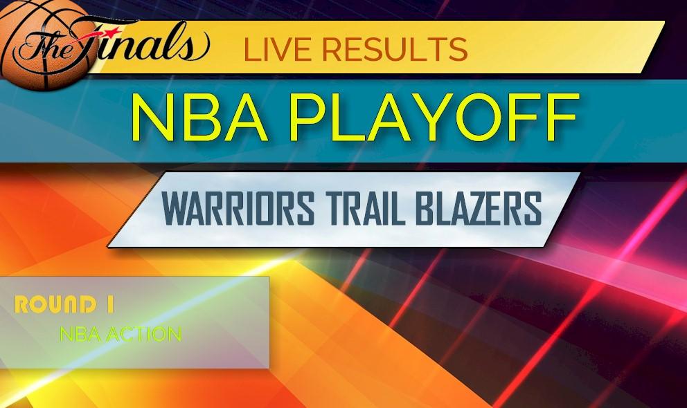 photo about Warriors Schedule Printable identify Warriors vs Path Blazers Ranking: NBA Playoff Bracket, Printable