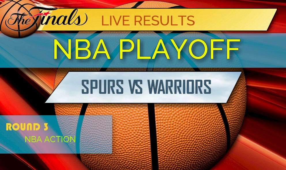 photograph about Spurs Schedule Printable referred to as Spurs vs Warriors Ranking: NBA Playoff Basketball Good results