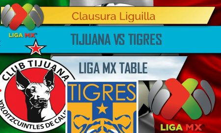 Tijuana vs. Tigres UANL (en vivo live score results below) delivers a May 21, 2017 futbol partido in the Liga MX Clausura Liguilla tonight.