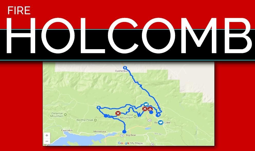 Holcomb Fire Map Big Bear Fire Update Evans Fire