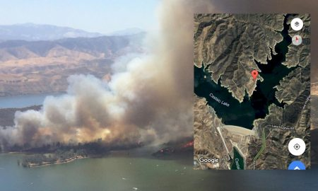 Castaic Fire Map: Castaic Lake Fire Map at 500 Acres