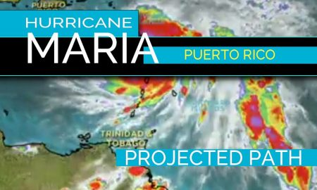 Hurricane Maria Puerto Rico Projected Path Update 9/20