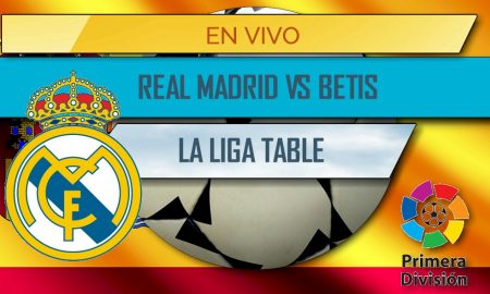 Real Madrid vs Betis En Vivo Score: La Liga Table
