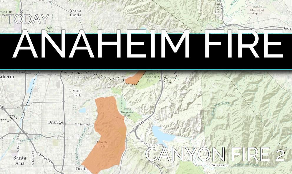 Anaheim Fire 2017 Canyon Fire 2 Anaheim Hill Fire Evacuations Active