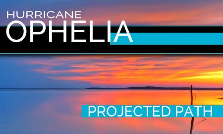 Hurricane Ophelia Projected Path Ireland Monday