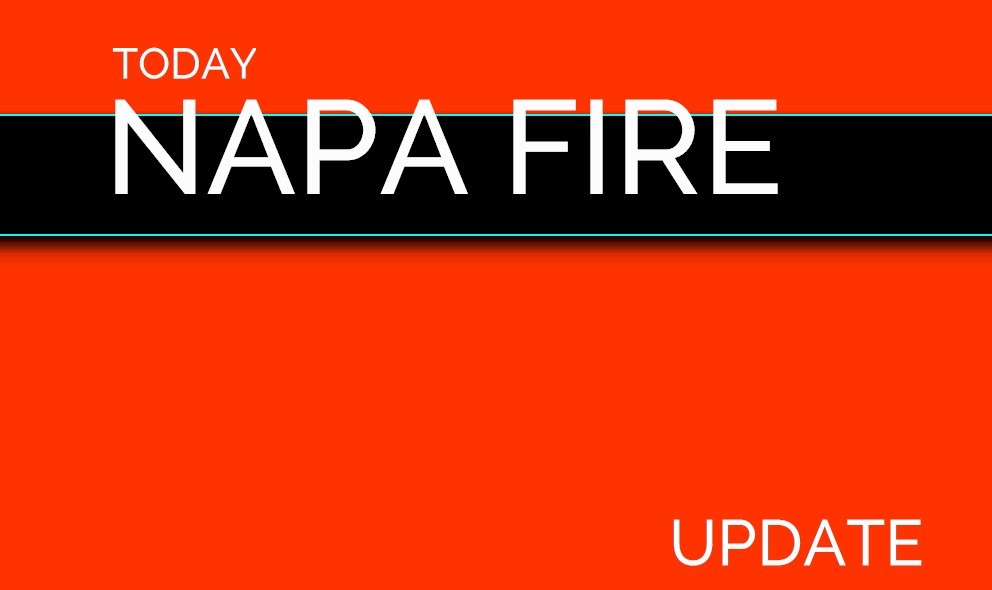 Napa Fire Map 2017 Napa Valley Fire Update Today