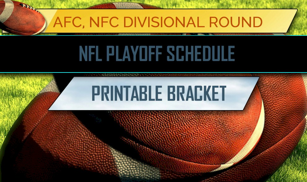 picture about Printable Nfl Bracket named NFL Playoff Routine 2018: NFL Playoff Bracket Printable