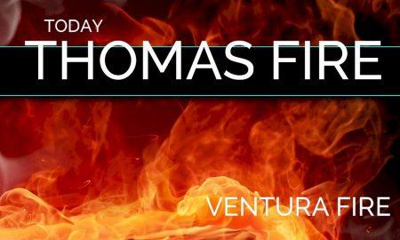 Thomas Fire Map Santa Barbara County Evacuations, Carpinteria Today