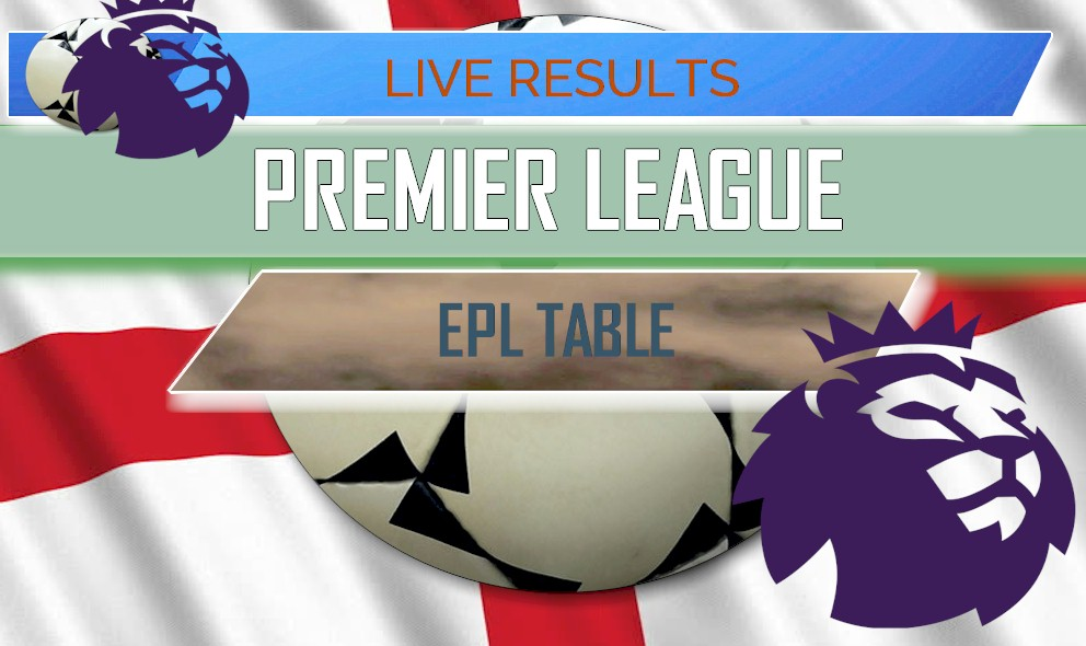 EPL Table Results: English Premier League 12/12