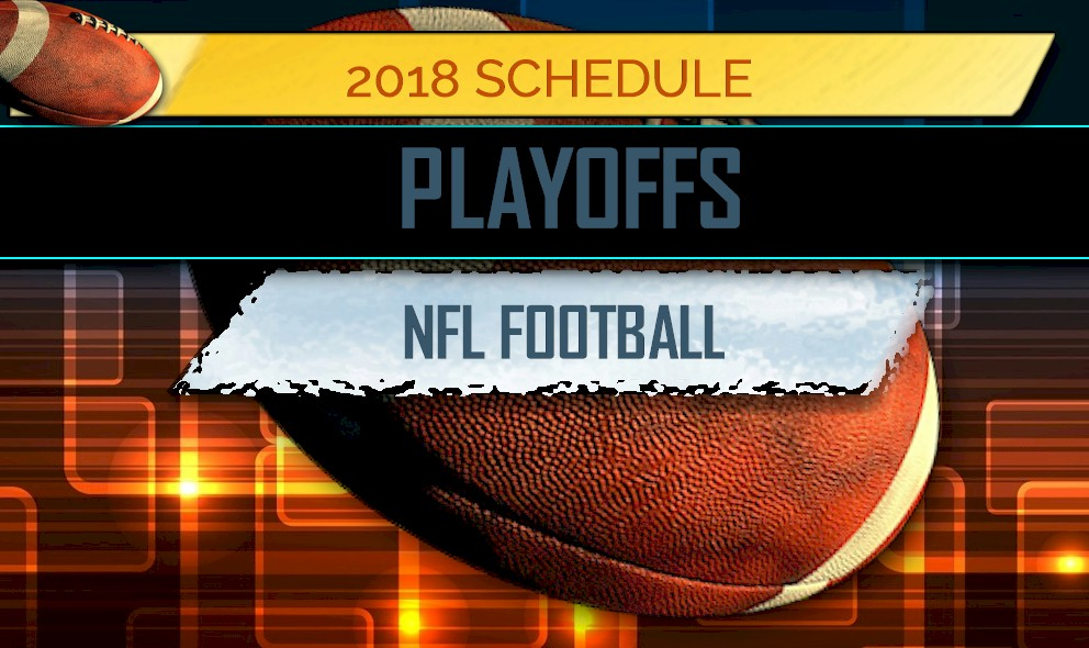 picture relating to Printable Nfl Bracket named NFL Playoff Routine 2018: NFL Playoff Bracket Printable